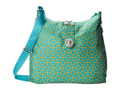 Baggallini - Helsinki Bagg (Trellis Print In Aquamarine) Cross Body Handbags