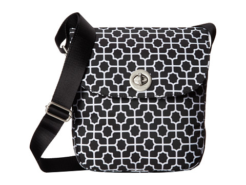 Baggallini - Beijing Crossbody (Black Trellis Print) Cross Body Handbags