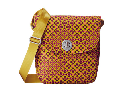 Baggallini - Beijing Crossbody (Floral Geo Print In Kiwi) Cross Body Handbags