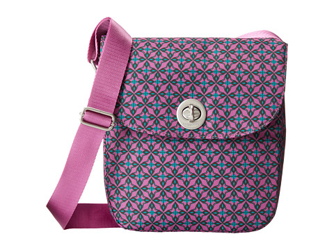 Baggallini - Beijing Crossbody (Floral Geo Print In Lilac) Cross Body Handbags