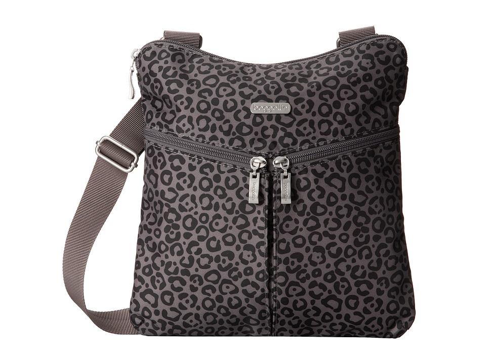 Baggallini - Horizon Crossbody (Jungle Print In Pewter) Cross Body Handbags
