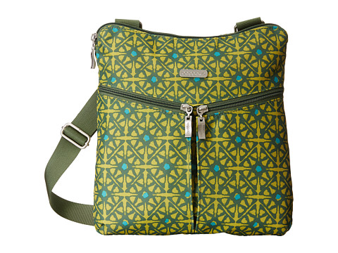 Baggallini - Horizon Crossbody (Safari Print In Kiwi) Cross Body Handbags