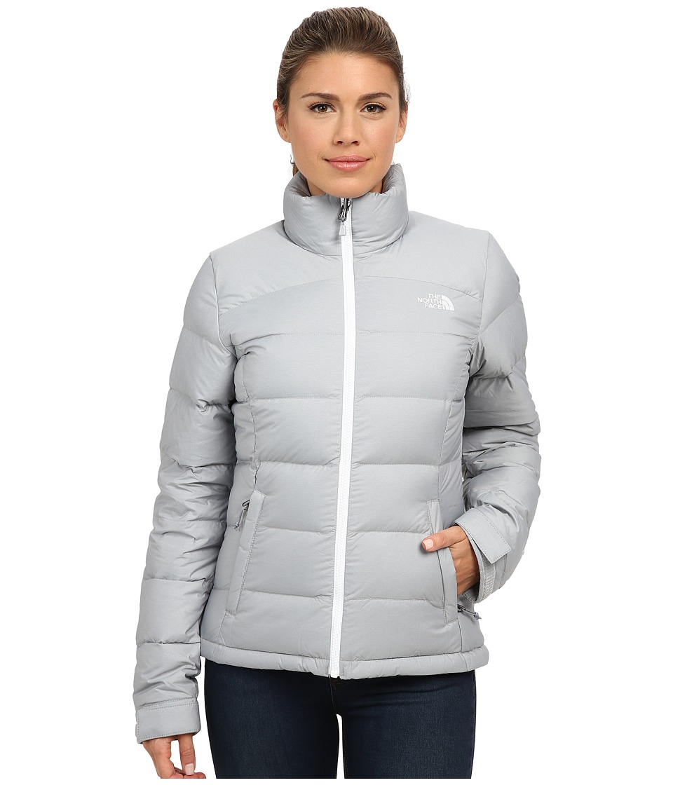 The North Face - Nuptse 2 Jacket (High Rise Grey Heather/TNF White) Women's Coat