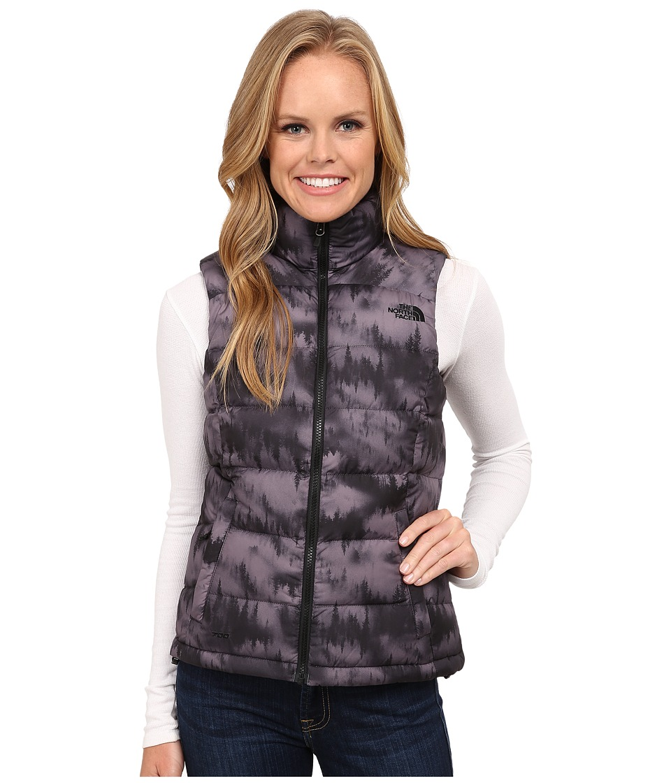The North Face - Nuptse 2 Vest (TNF Black/Mountain Scape Print) Women