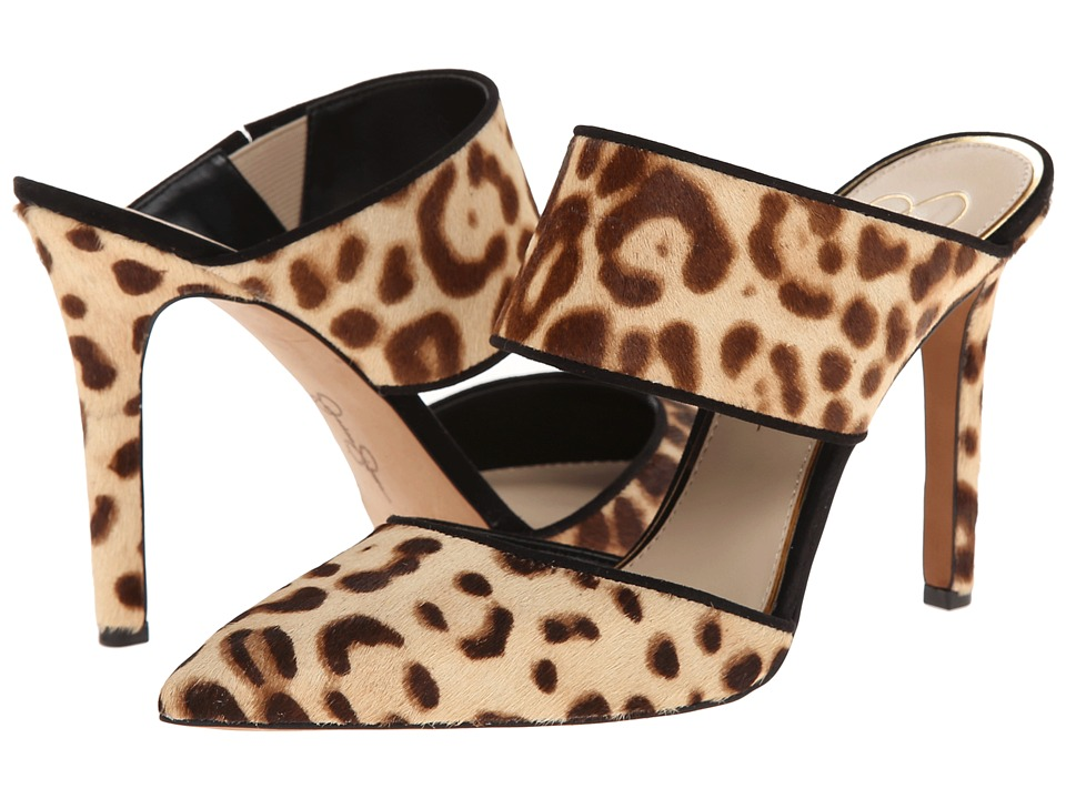 Jessica Simpson Chandra (Light Natural/Black Regal Cheetah Print Haircalf) High Heels