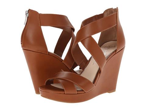 Jessica Simpson - Jadyn (Light Luggage Zip/Burnish) Women's Wedge Shoes