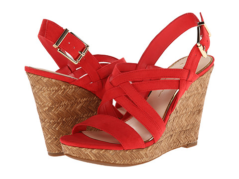 Jessica Simpson - Julita (Solar Coral Elko Nubuck) Women's Wedge Shoes