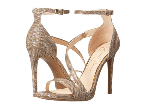 Jessica Simpson - Rayli (Gold Jassica Sparkle Mesh) High Heels
