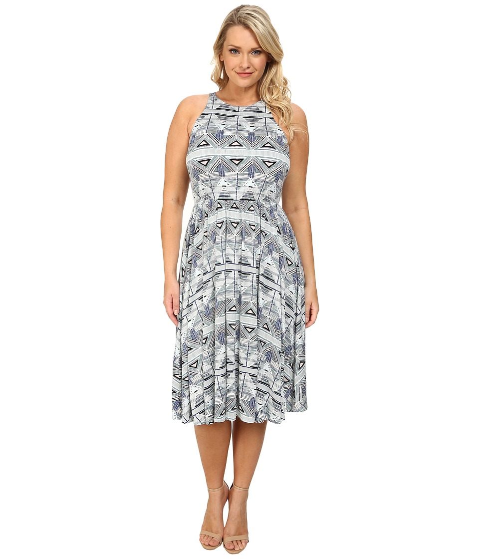 Rachel Pally Plus - Plus Size Ruben Dress White Label Print (Stencil) Women's Dress