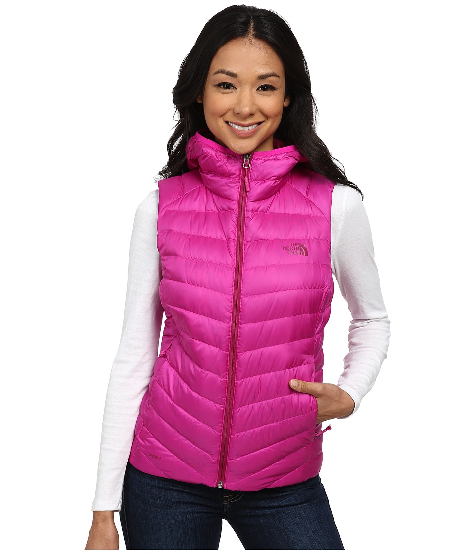 The North Face - Tonnerro Hooded Vest (Luminous Pink) Women's Vest