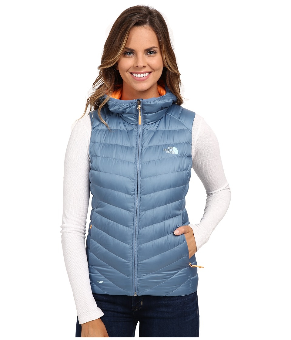 The North Face - Tonnerro Hooded Vest (Cool Blue) Women's Vest