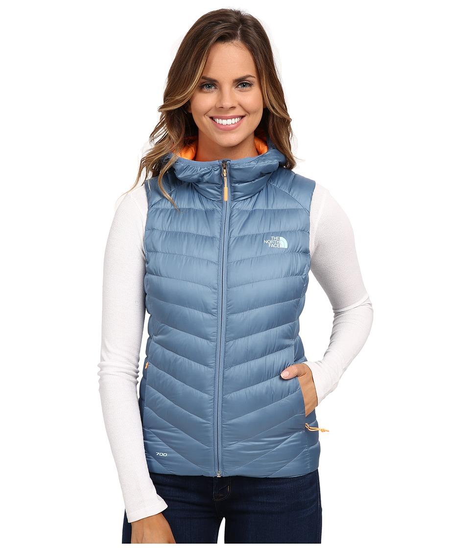 The North Face - Tonnerro Hooded Vest (Cool Blue) Women's Vest