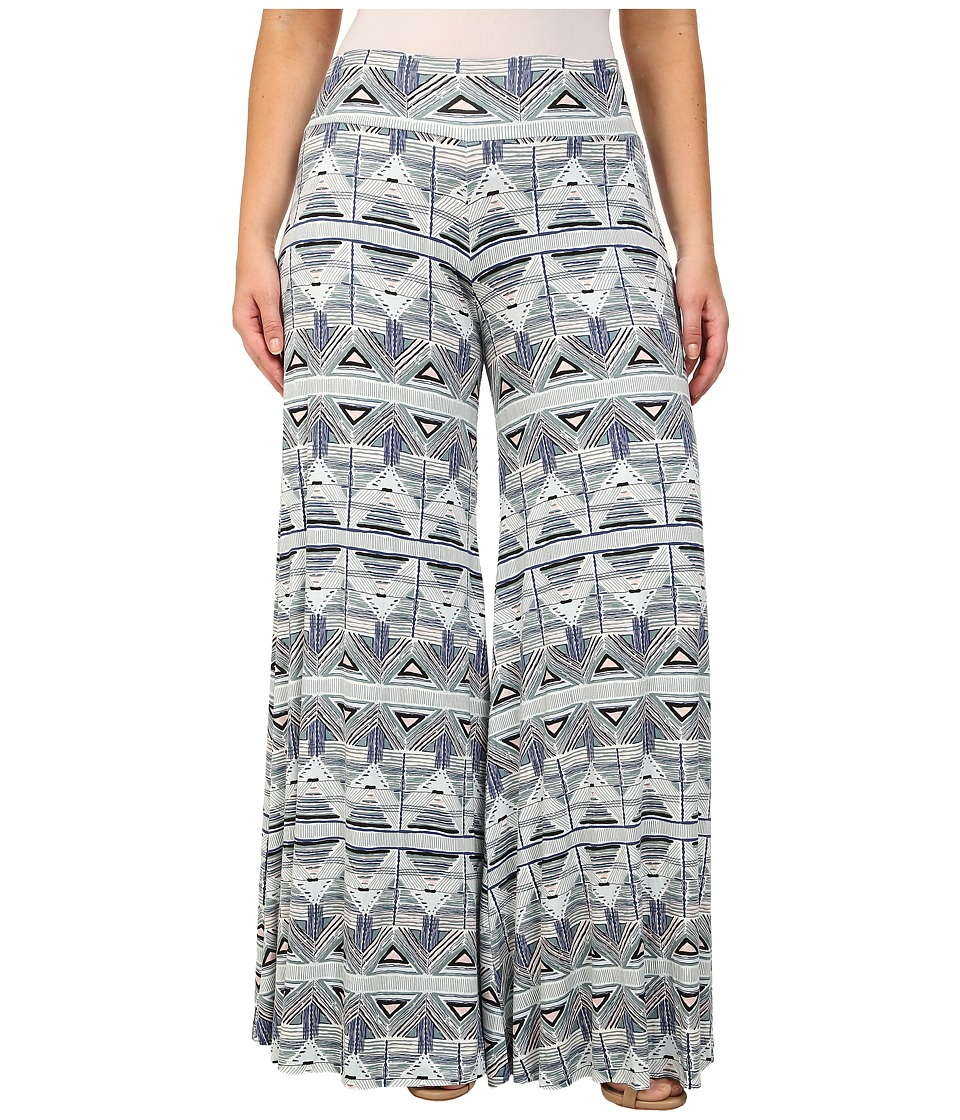 Rachel Pally Plus - Plus Size Wide Leg Trouser White Label Print (Stencil) Women's Casual Pants