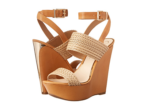 Jessica Simpson - Eila (Natural/Abra Sera Weave/Veg Vachetta) Women's Wedge Shoes