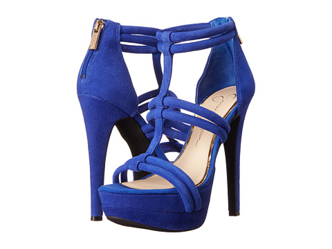 Jessica Simpson - Solena (New Cobalt Luxe Kidsuede) High Heels