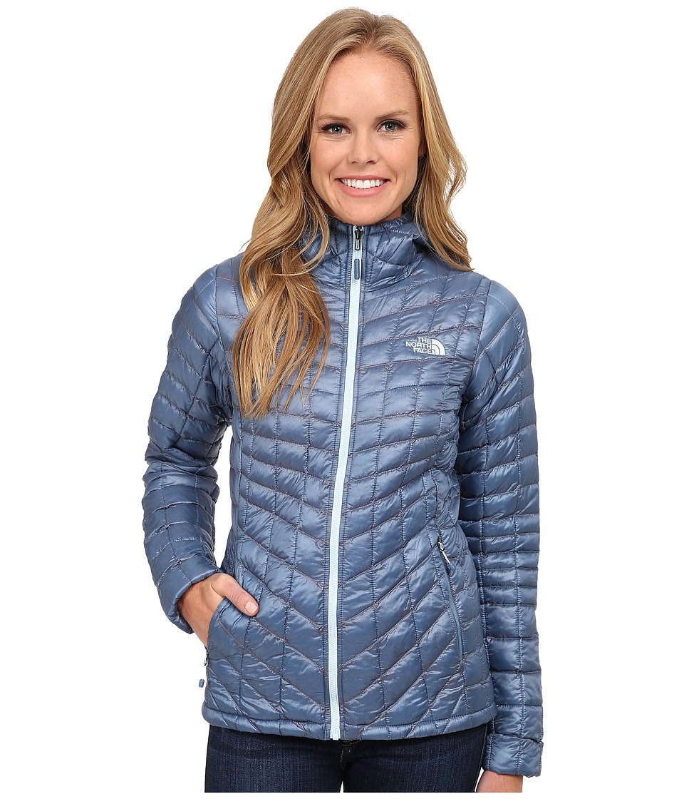 The North Face - ThermoBall Hoodie (Cool Blue) Women's Coat