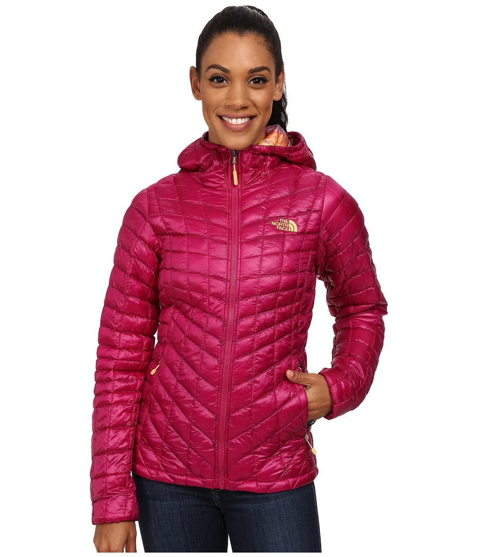 The North Face - ThermoBall Hoodie (Dramatic Plum/Geo Floral Print) Women's Coat
