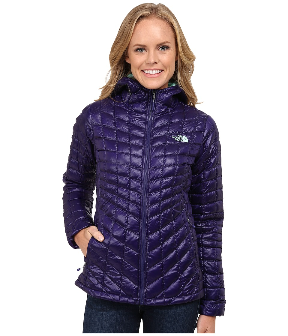 The North Face - ThermoBall Hoodie (Garnet Purple) Women's Coat