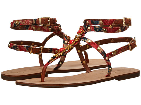 Jessica Simpson - Kiane (Red Multi Cancun Print Fabric) Women's Sandals