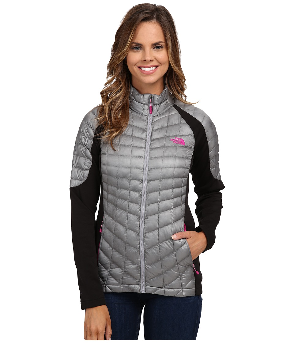 The North Face - Momentum ThermoBall Hybrid Jacket (Mid Grey/TNF Black) Women's Coat