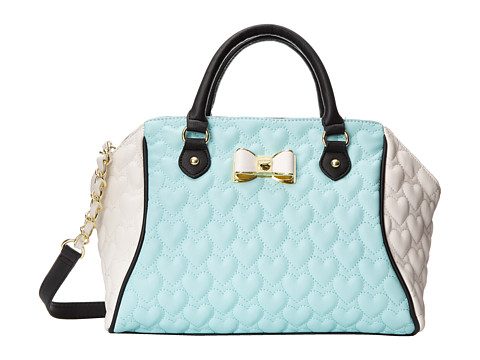 Betsey Johnson - Be My Bow Large Satchel (Minty Blue) Satchel Handbags