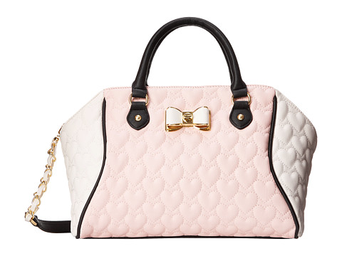 Betsey Johnson - Be My Bow Large Satchel (Blush) Satchel Handbags