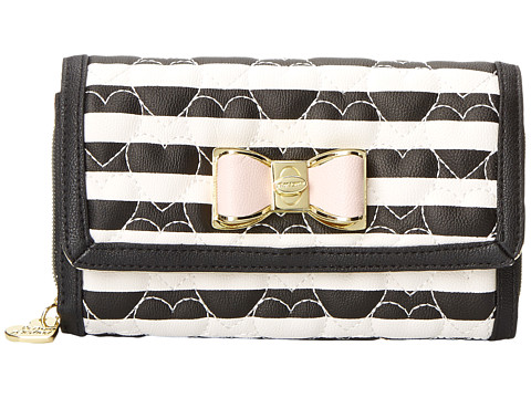 Betsey Johnson - Be My Bow Wallet On A String (Stripe) Wallet Handbags