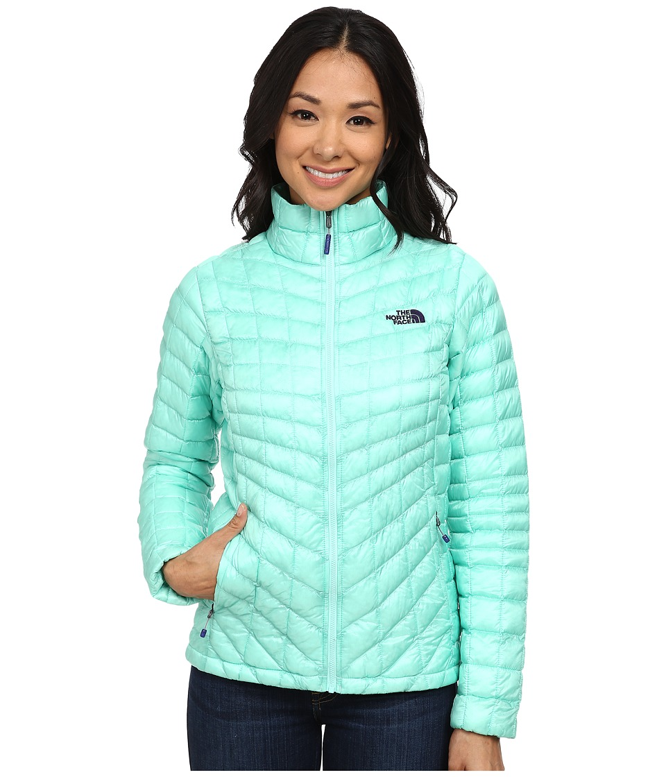 The North Face ThermoBall Full Zip Jacket (Surf Green) Women