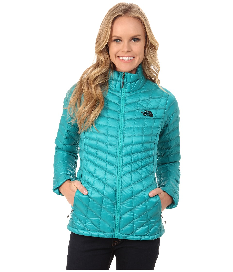 The North Face - ThermoBall Full Zip Jacket (Kokomo Green) Women's Coat