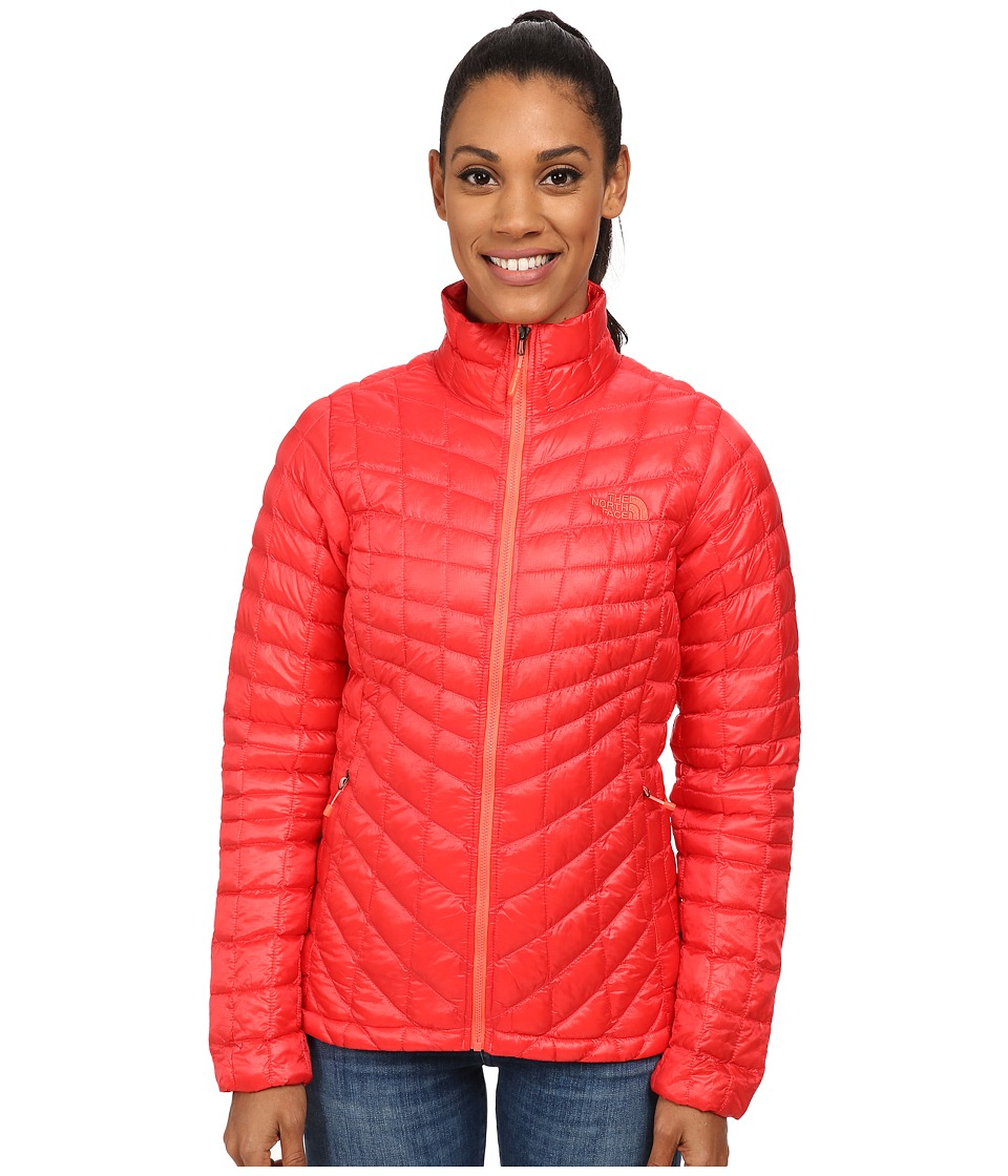 The North Face ThermoBall Full Zip Jacket (Melon Red) Women