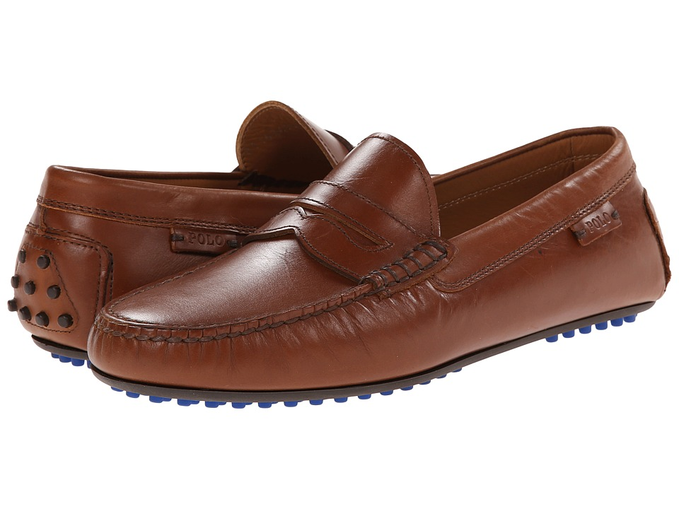 Ralph Lauren Collection - Polo Refined Landan (Dark Tan) Men's Slip on Shoes