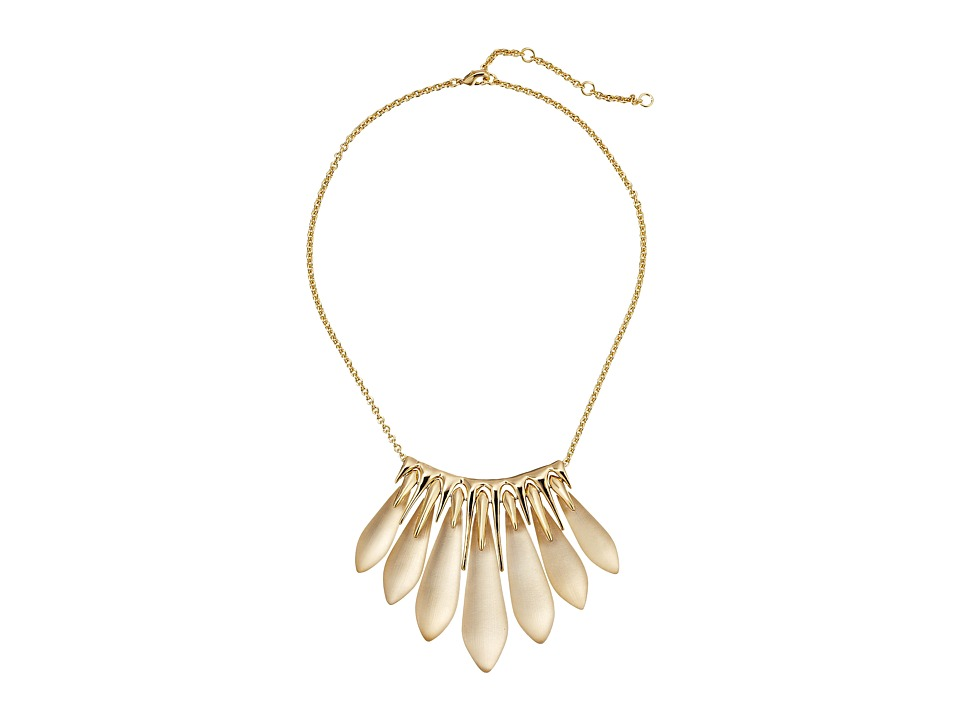 Alexis Bittar - Articulated Spear Bib Necklace (Taupe) Necklace