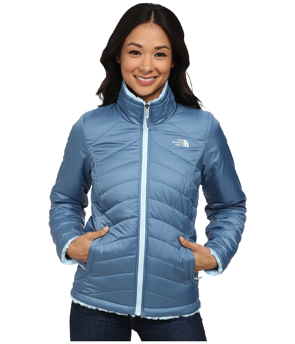 The North Face - Mossbud Swirl Reversible Jacket (Cool Blue/Tofino Blue) Women's Coat