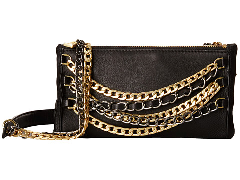 ASH - Domino Chain- Crossbody (Black/Tarnish Silver/Matte Gold) Cross Body Handbags