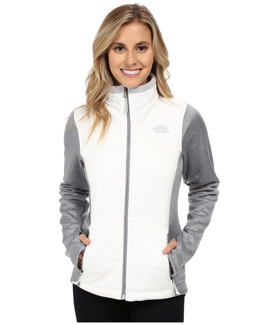 The North Face - Agave Mash-Up Jacket (TNF White/High Rise Grey Heather) Women's Coat