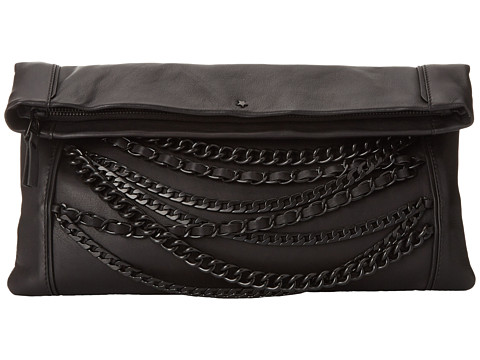 ASH - Domino Chain- Clutch (Black/Matte Black) Clutch Handbags