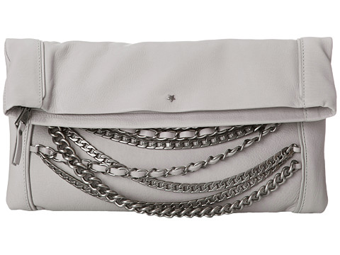 ASH - Domino Chain- Clutch (Stone Grey/Tarnish Silver) Clutch Handbags