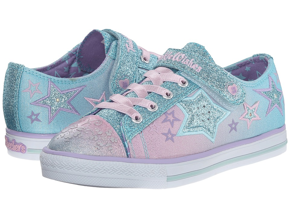 SKECHERS KIDS - Princess Lights 10539L (Little Kid) (Light Blue/Pink) Girls Shoes