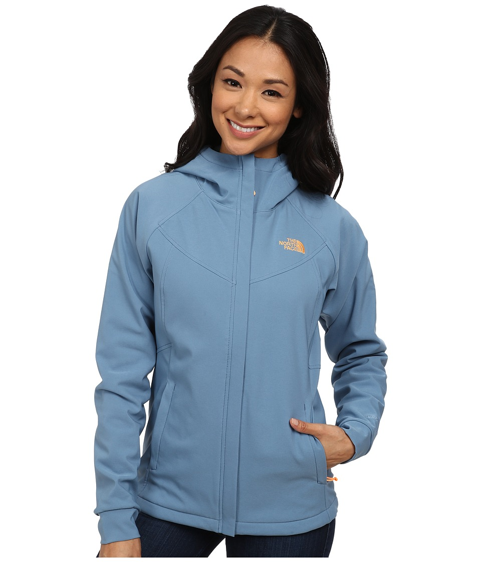 The North Face - Maddie Raschel Hoodie (Cool Blue/Cool Blue) Women's Coat