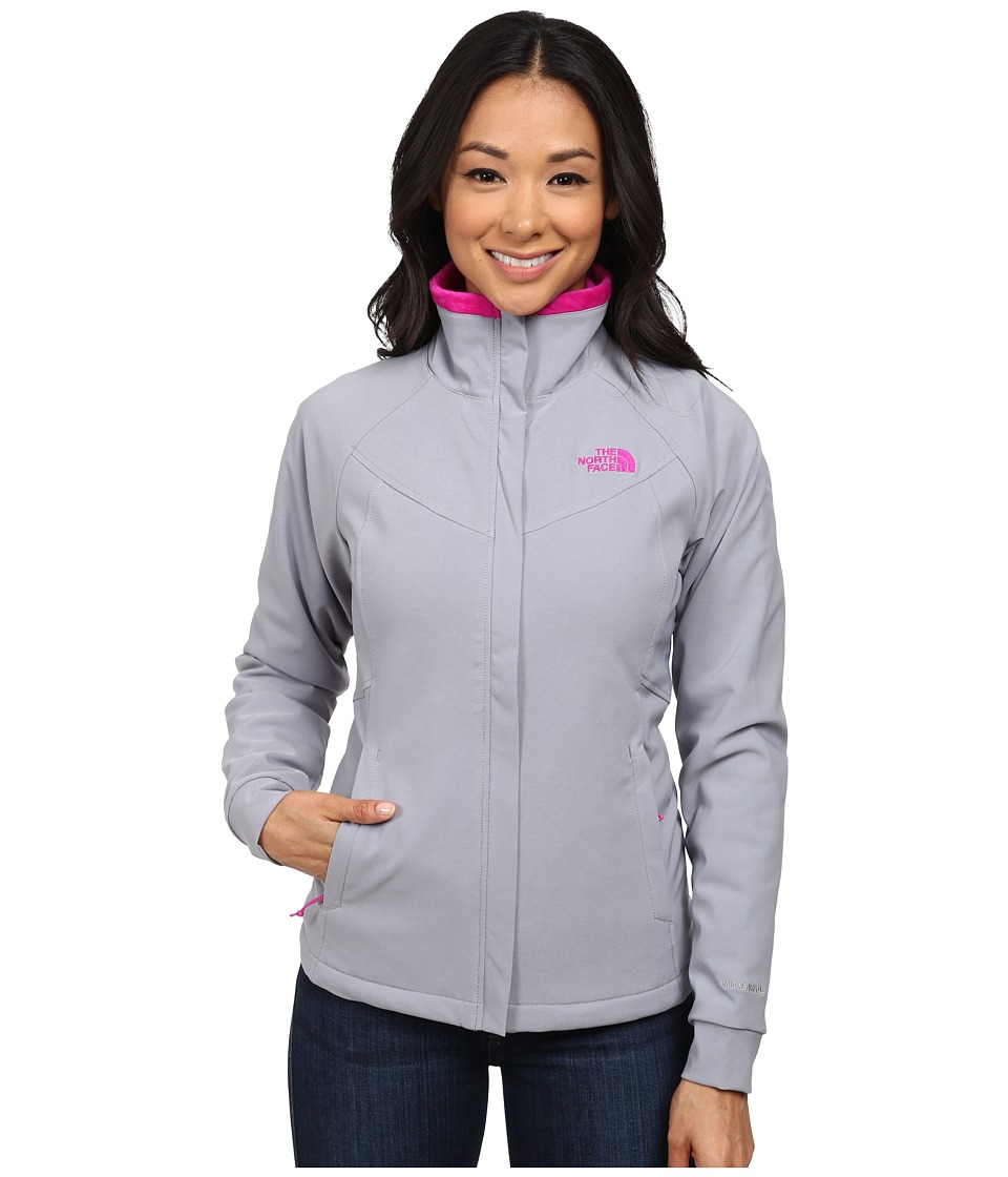 The North Face - Ruby Raschel Jacket (Mid Grey/Luminous Pink) Women's Coat