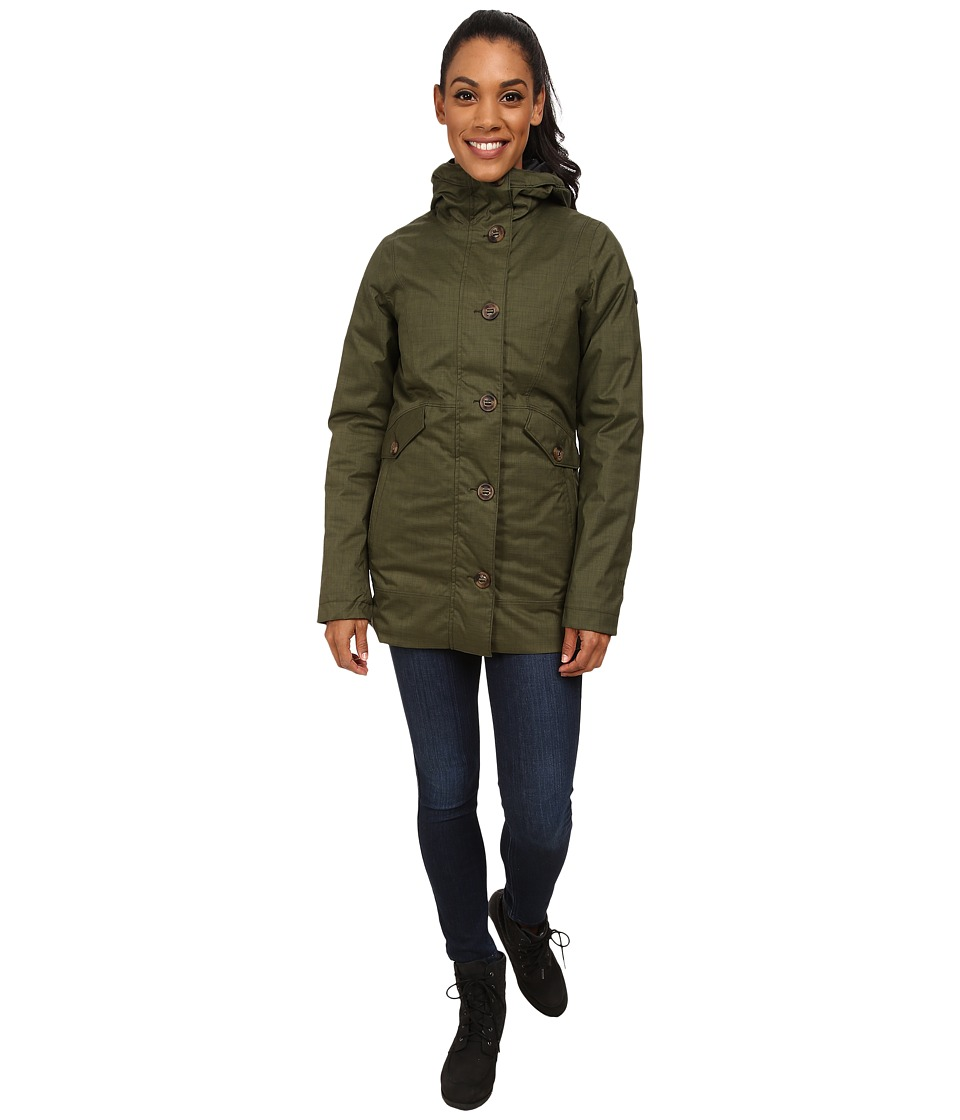 The North Face - Aleiana Triclimate Jacket (Forest Night Green Melange) Women's Coat