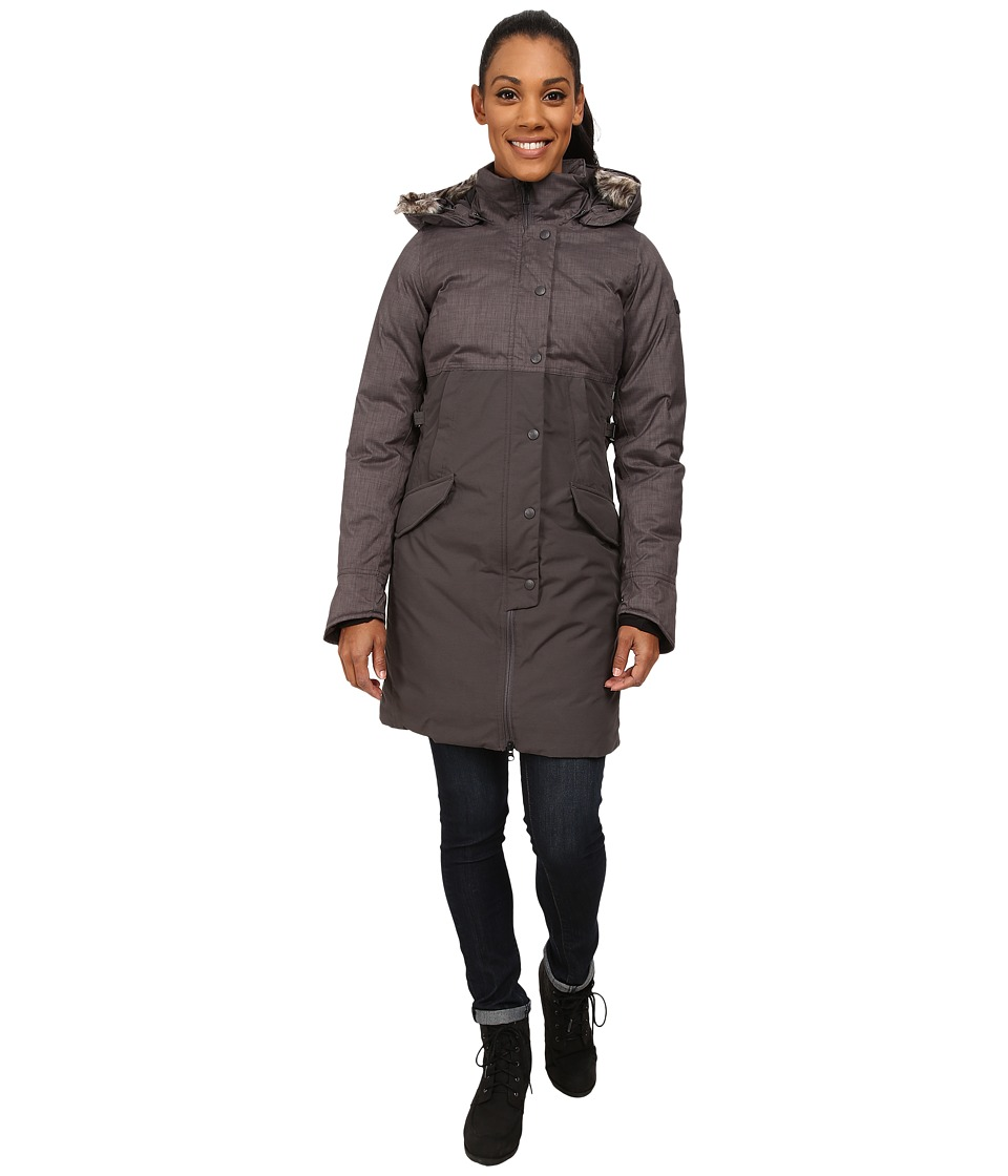 The North Face - Shavana Parka (Graphite Grey Melange/Graphite Grey) Women's Coat
