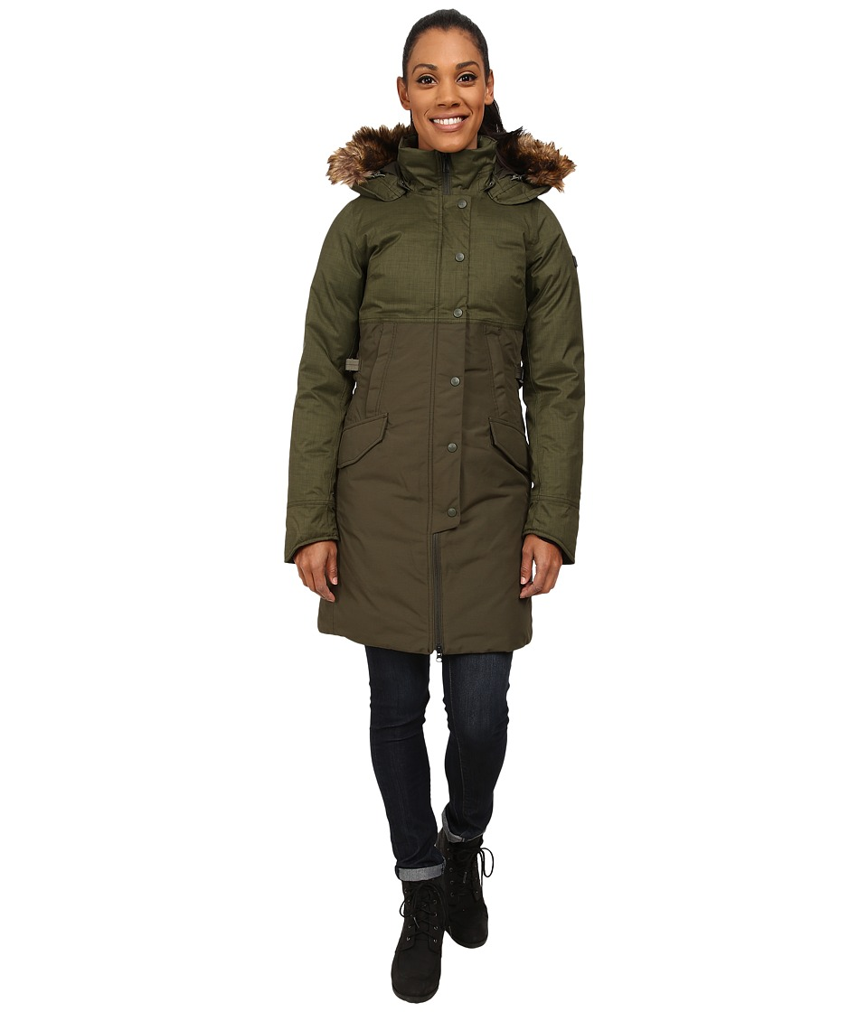 The North Face - Shavana Parka (Forest Night Green Melange/Forest Night Green) Women's Coat