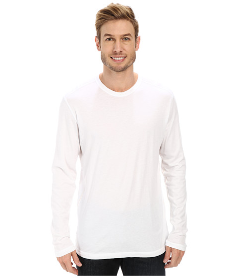 Agave Denim - Tamarindo Long Sleeve Crew (Bright White) Men