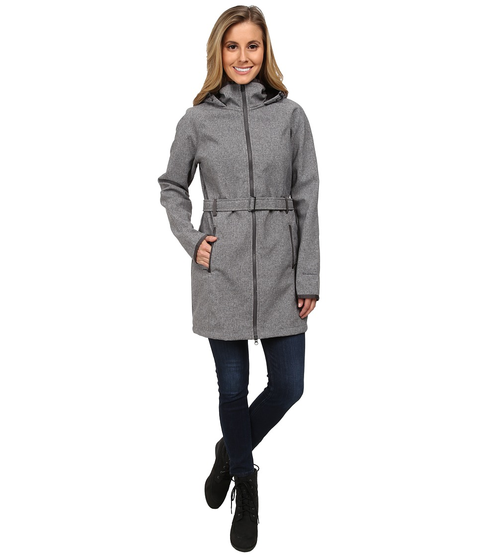 The North Face - Apex Bionic Trench Coat (Graphite Grey Heather) Women's Coat