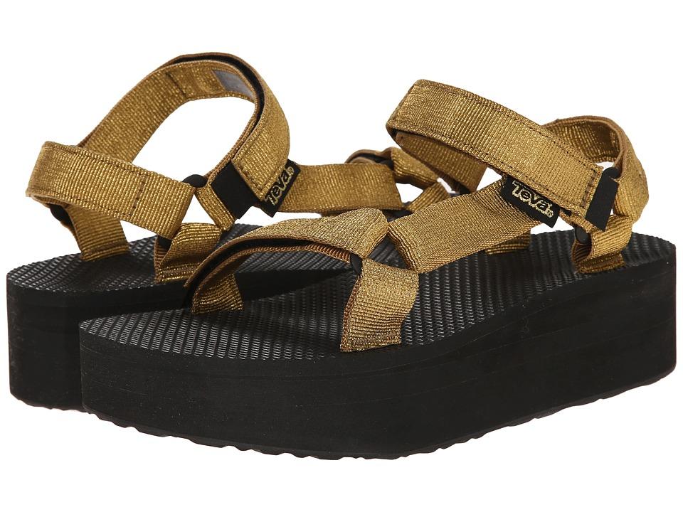 Teva - Flatform Universal (Gold) Women's Sandals