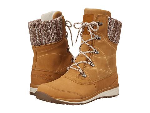 Salomon - Hime Mid LTR CS WP (Beige Leather/Beige Leather/Bordeaux) Women's Shoes