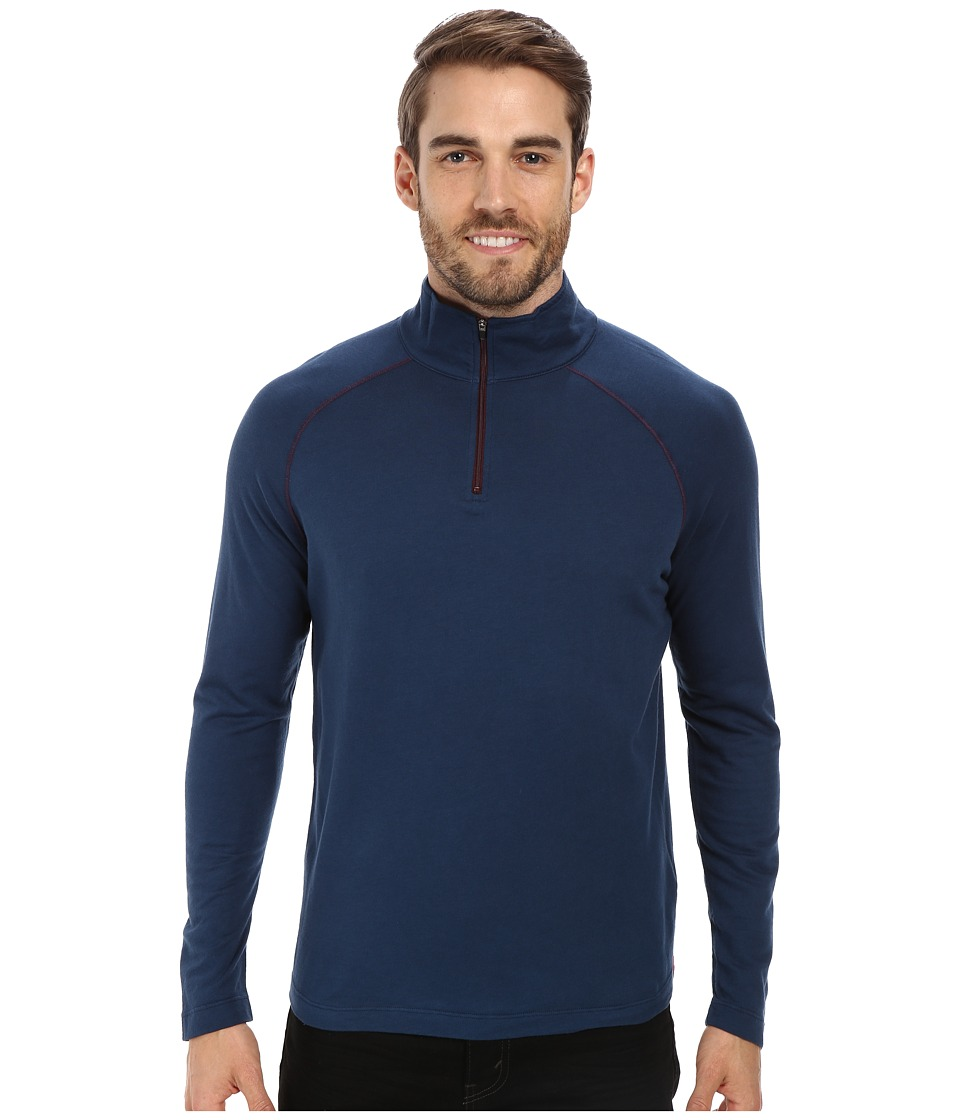 Agave Denim - Surfrider 1/4 Zip Mock (Majolica Blue) Men