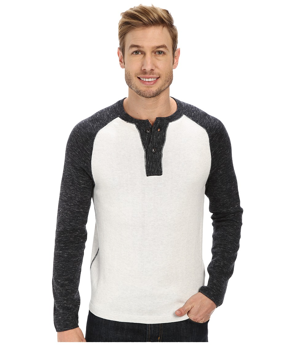 Agave Denim - Surfers Point Long Sleeve Fine Gauge Henly (Anthracite) Men's Long Sleeve Pullover