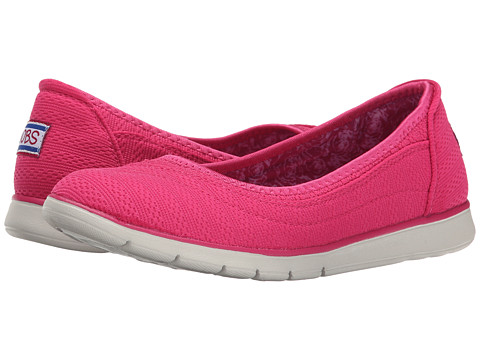 BOBS from SKECHERS - Pureflex (Hot Pink) Women's Flat Shoes